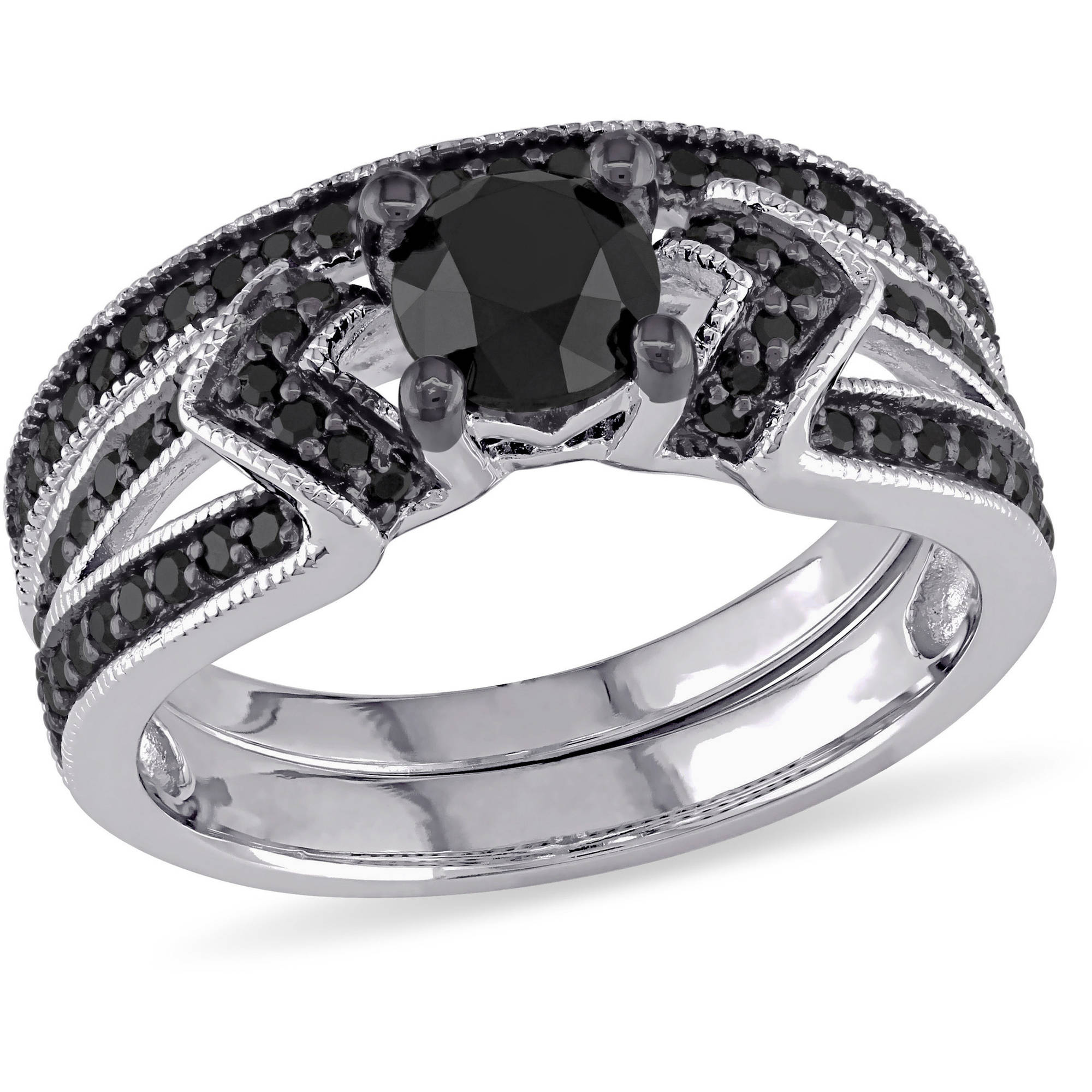 bands band products ring wedding rings black white and artemer diamond