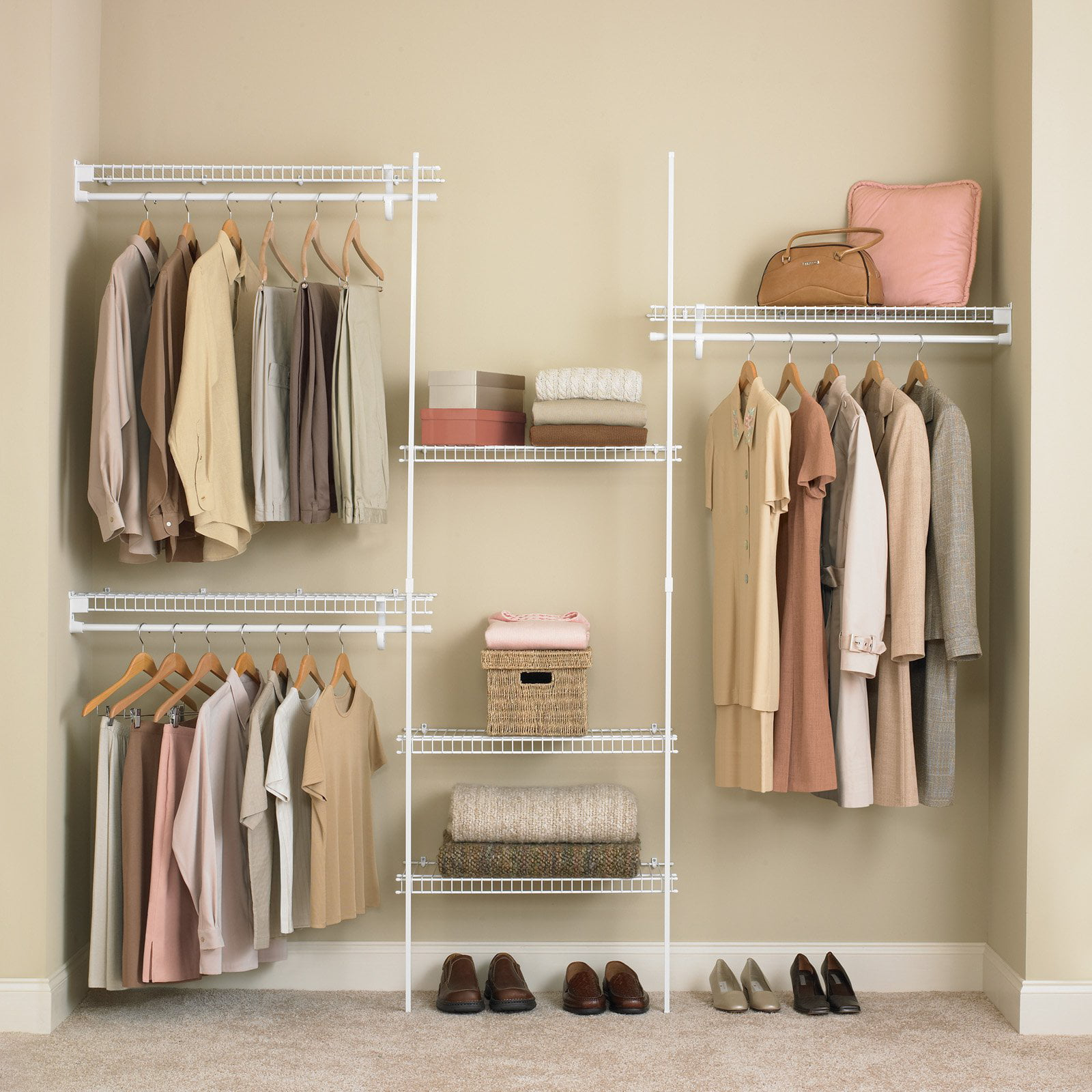 Attractive ClosetMaid SuperSlide 5 8 Ft. Closet Organizer Kit   Walmart.com