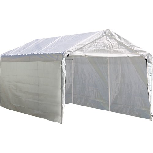 "Super Max 12' x 30' White Canopy Enclosure Kit Fits 2"" Frame by ShelterLogic"