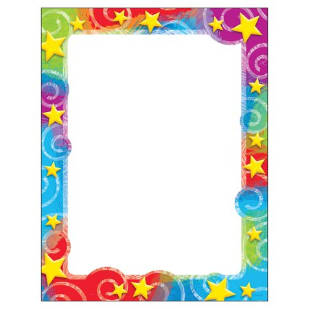 - Stars 'n Swirls Terrific Paper, 50 Sheets per Package, Add Style and cheer to everyday notes, letters, and lists By Trend Enterprises
