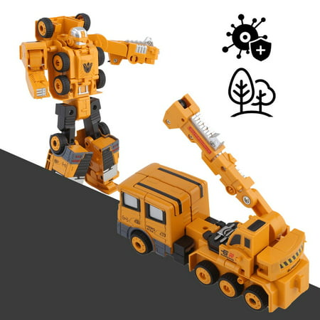 1120dc409c6 Crane Style Vehicle Car Toys Kids Transforming Robot Transformation Toys  Anime Action Figure Class Toy Children S