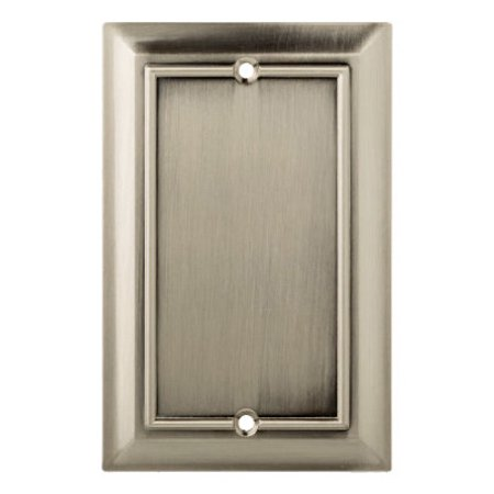 Brainerd Mfg Co/Liberty Hdw W18195-SN-U Blank Wall Plate, 1-Gang, Architectural, Satin Nickel Zinc