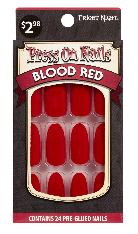 Halloween Fright Night Nails Blood Red - Walmart.com