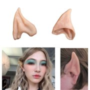 Latex Fairy Pixie Elf Fake Ears ,iClover Cosplay Accessories Halloween Party Soft Pointed Prosthetic Tips Ear---3 Pairs