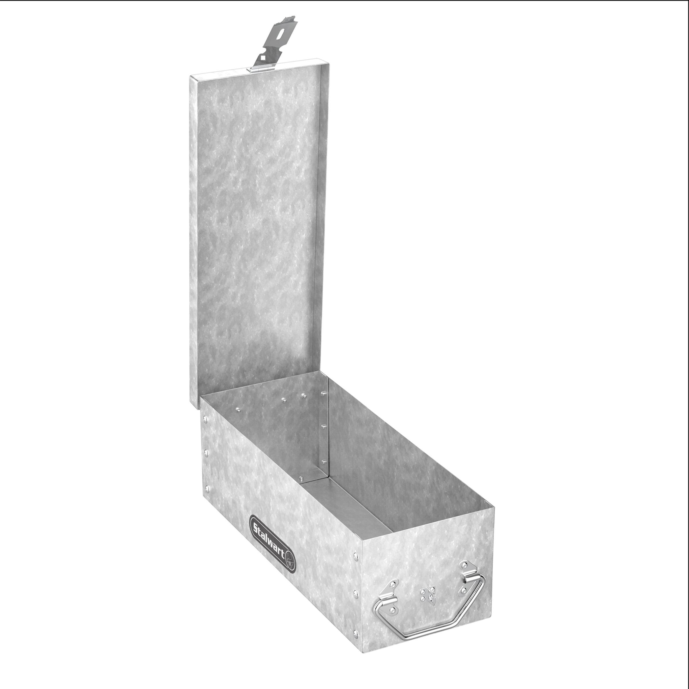 Stalwart Metal Storage Lock Box With Lock Hasp 75 005