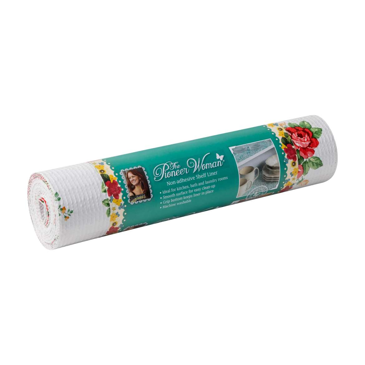 The Pioneer Woman 12 In. x 10 Ft. Non-adhesive Shelf Liner, Vintage ...
