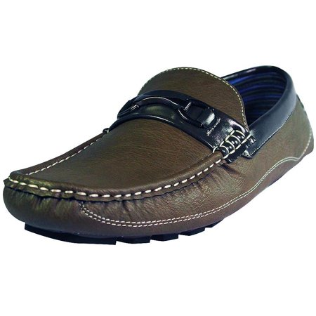 Norty Mens Moda Italy Fashion Driving Casual Loafers Boat Shoes Moc Grey Putty / 10.5 D(M)