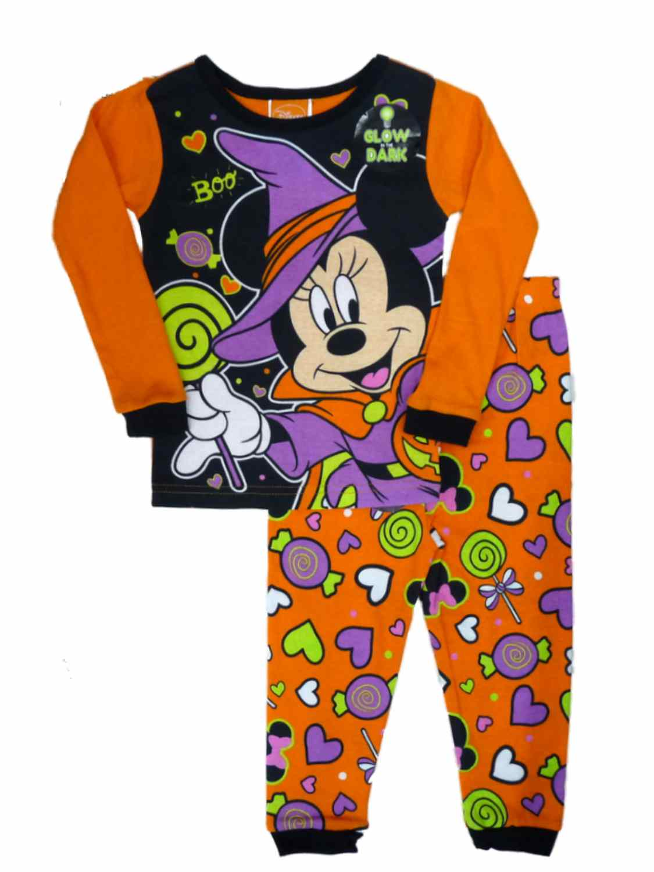 Disney Minnie Mouse Little Girls Toddler Halloween Pajama Set