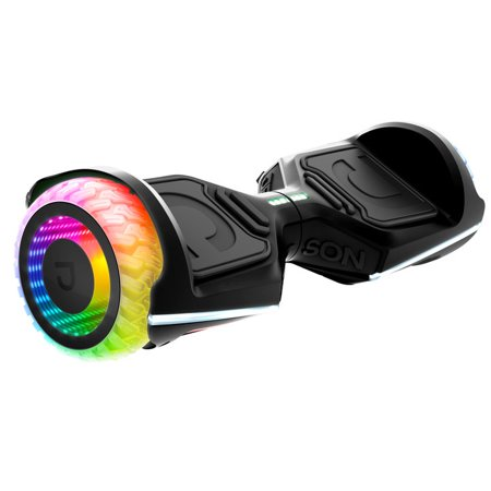 Jetson Rave Extreme-terrain Hoverboard with Cosmic Light-up Wheels, Black