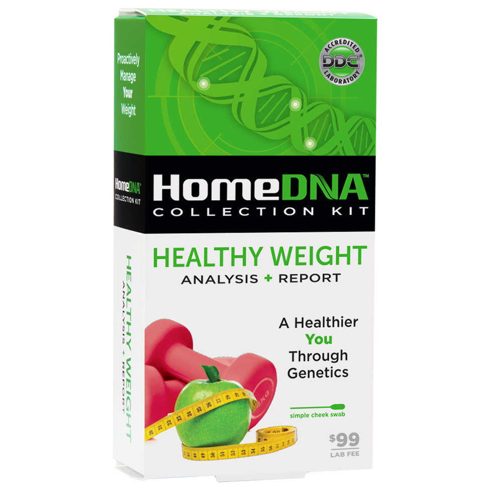HomeDNA™ Healthy Weight At-Home DNA Test Kit