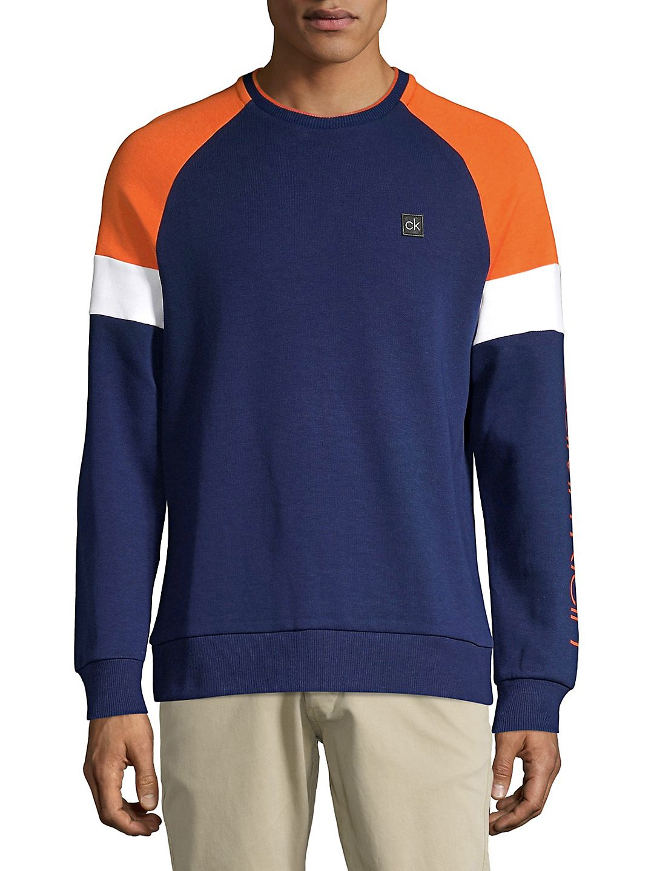 Athleisure Colorblock Crewneck Sweatshirt
