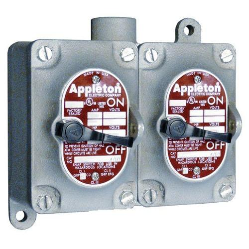 APPLETON ELECTRIC EDS3240 Tumbler Switch, EDS Series, 2 Gangs, 4-Way