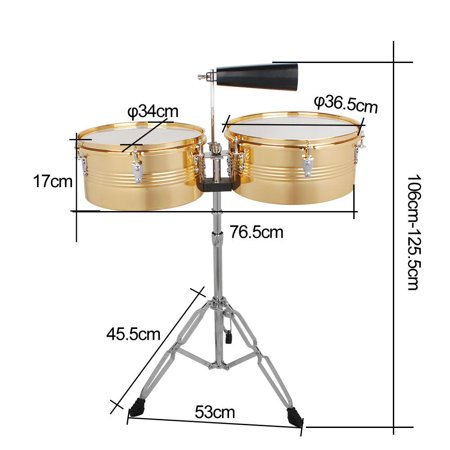 Ace Percussion - Ktaxon Professional Timbales 13