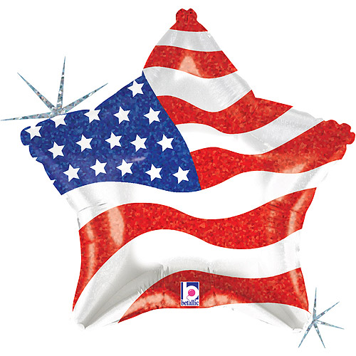 Stars and Stripes Forever Mylar Balloon