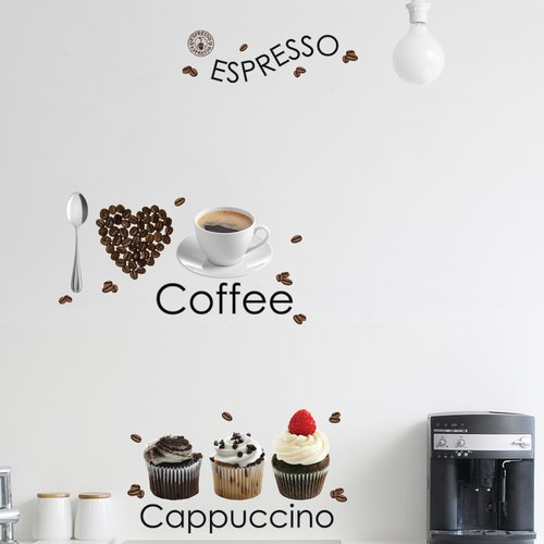 Brewster Home Fashions Euro Espresso Wall Decal