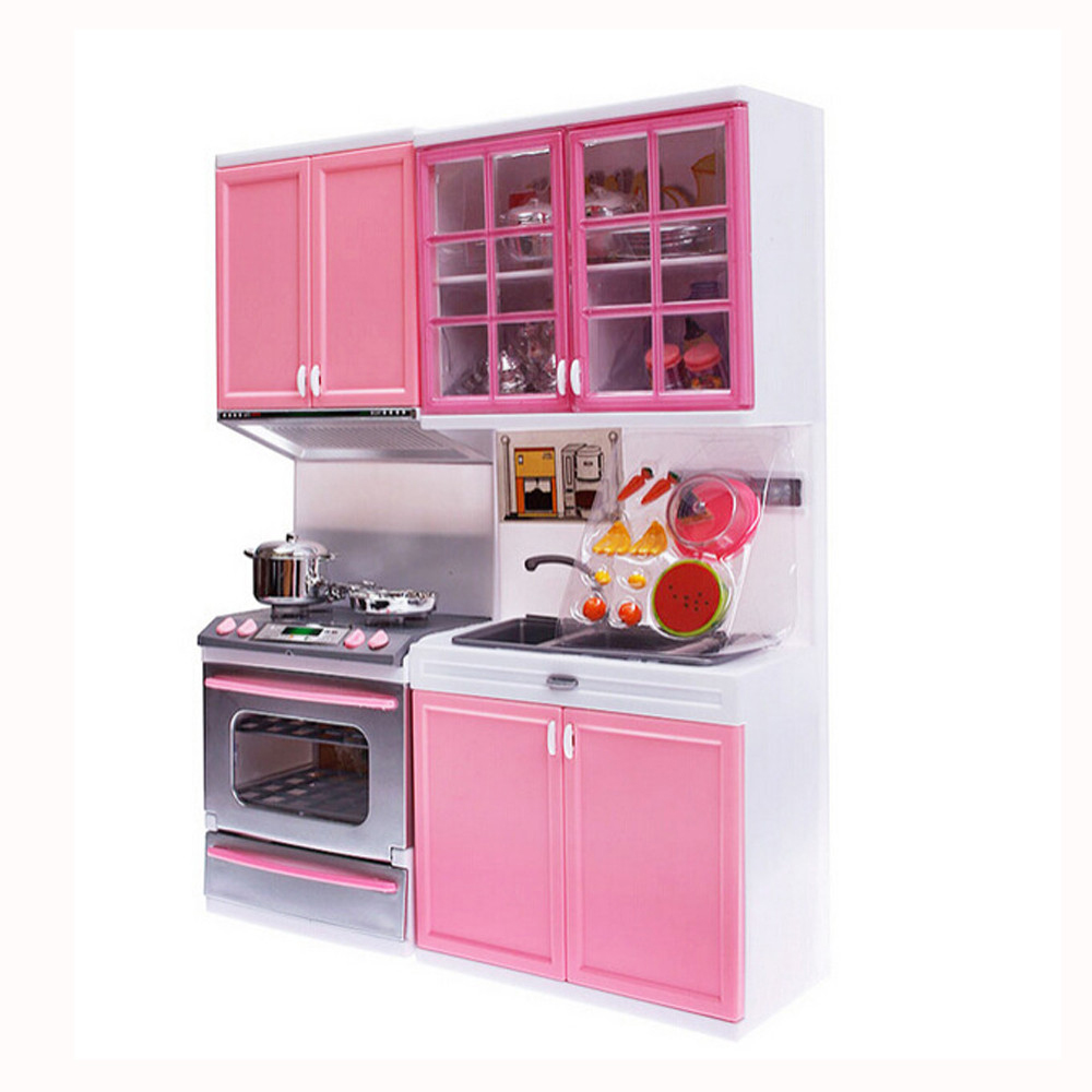 Volity Pretend Play Kitchen Set For Kids Mini Playset With Realistic Design Toy Various Accessories Toddlers Boys Girls Walmart Com