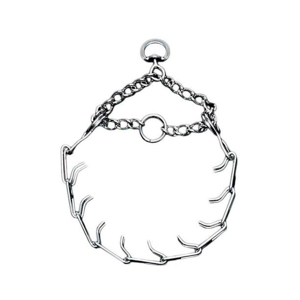 Chrome-Plated Chain Choke Training Dog Collar, 20-Inches