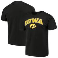 Men's Russell Athletic Black Iowa Hawkeyes Crew Core Print T-Shirt