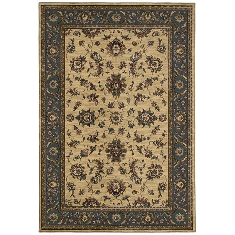 "Oriental Weavers Ariana 7'10"" x 11' Machine Woven Rug in Ivory"