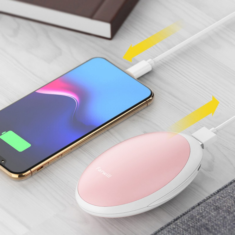 Portable UsbHand Warmer for Cold Winter Holiday Gifts Pink Rechargeable 3000Mah Supports Mobile Phone Charging Mini Hand Warmer for Women Kid