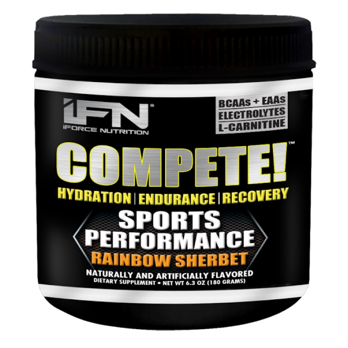 iForce Nutrition Compete, Rainbow Sherbet, 30 servings