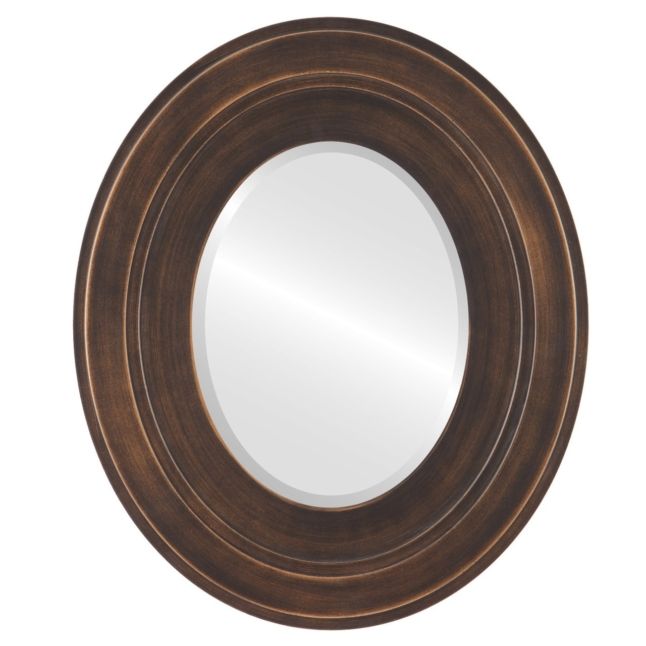 The Oval and Round Mirror Store Palomar Framed Oval Mirror in Rubbed Bronze Antique Bronze by Overstock