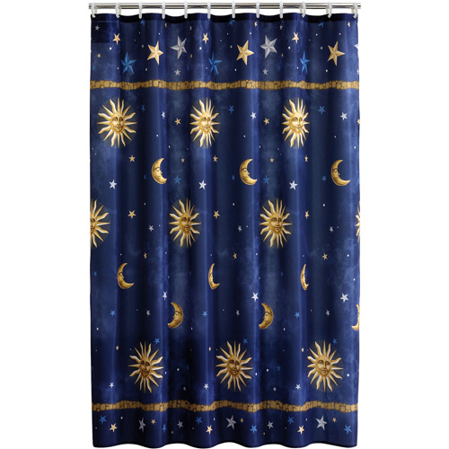 Mainstays Celestial Fabric Shower Curtain