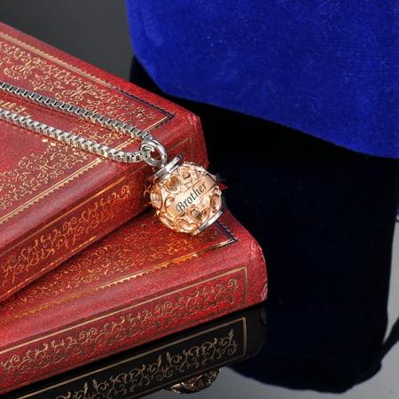 Heart Bead Bro. Always in My Heart RoseGold Memorial Jewelry Pendant Keepsake Memorial Urn Necklace