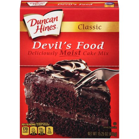 (2 pack) Duncan Hines Classic Devil's Food Cake Mix, 15.25 oz (Chocolate Pound Cake Made With Cake Mix)