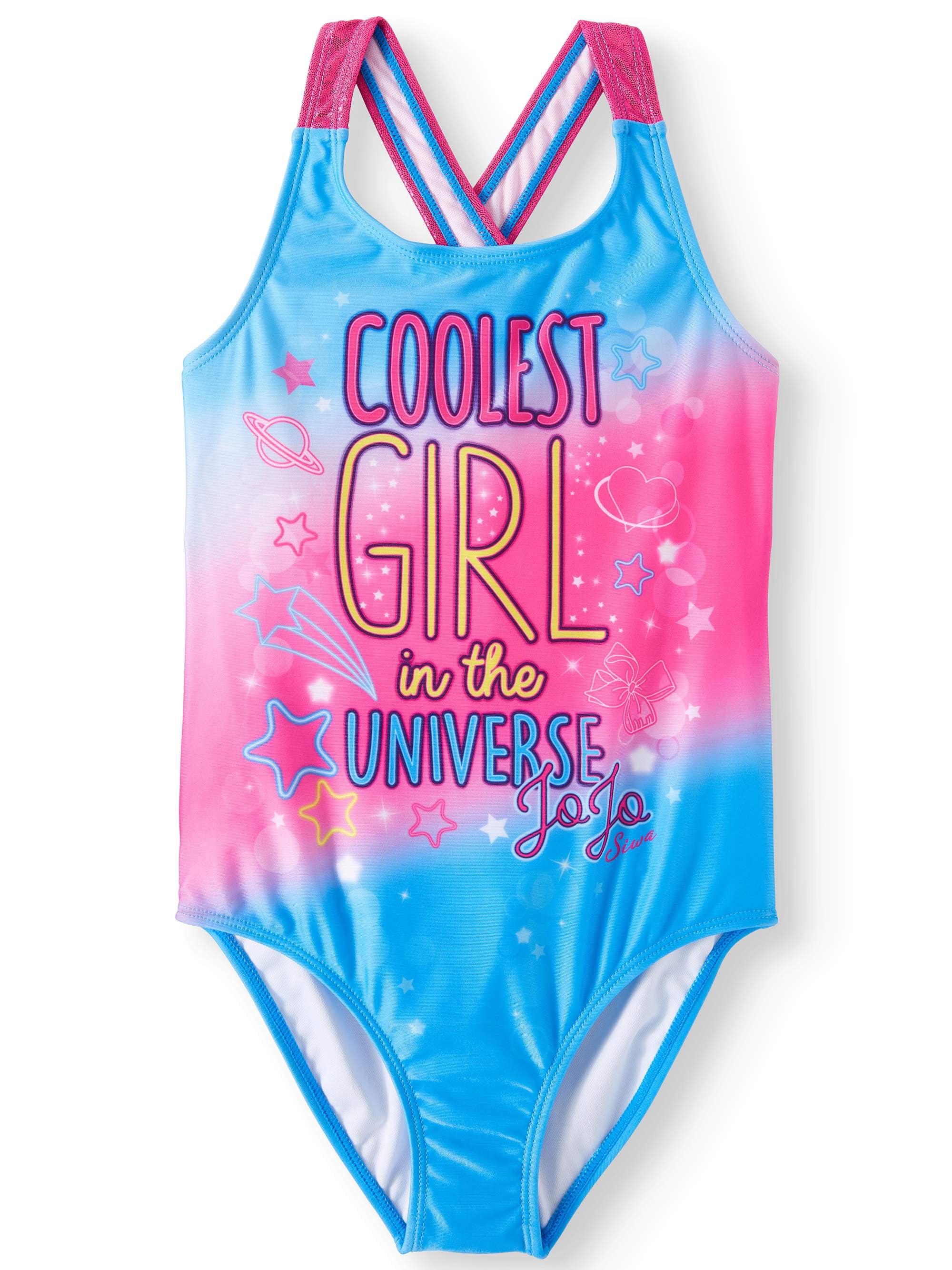 30c0ce1b138b2 JoJo Siwa - JoJo Siwa Crossback One-Piece Swimsuit (Little Girls   Big Girls)  - Walmart.com
