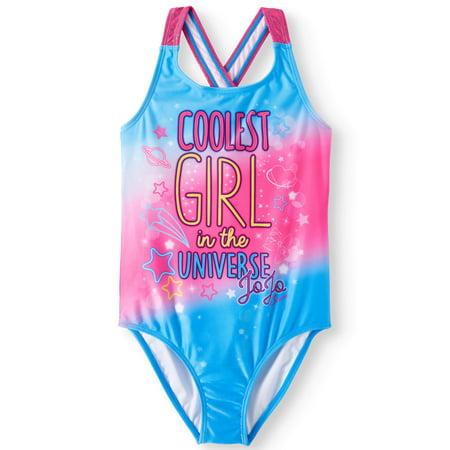 fd29ee0886 JoJo Siwa - JoJo Siwa Crossback One-Piece Swimsuit (Little Girls   Big  Girls) - Walmart.com