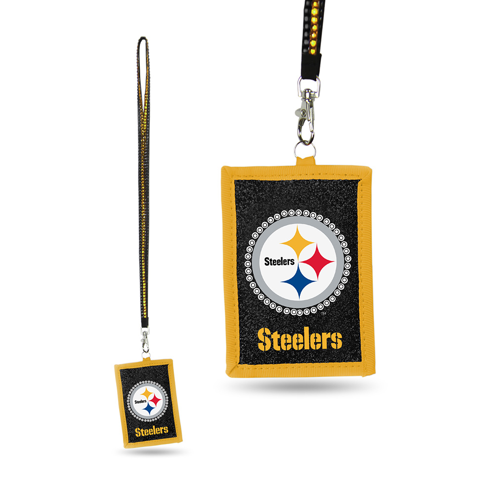 Pittsburgh Steelers NFL Lanyard with Nylon Wallet