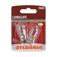 Sylvania 7443 Long Life Halogen Auto Mini Bulbs, Pack of 2.