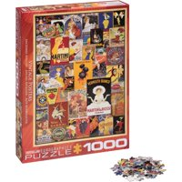 Vintage Variety Poster Collage 1000-Piece Puzzle