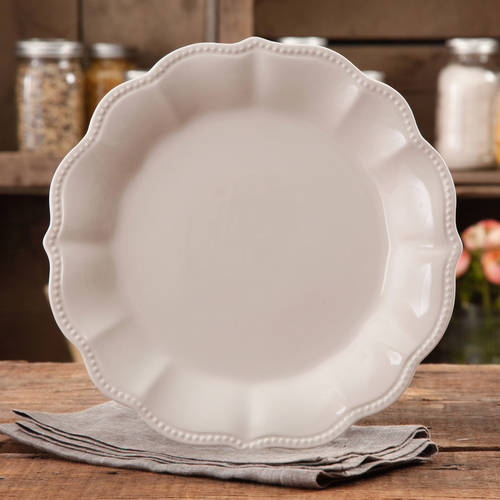 The Pioneer Woman Paige Crackle Glaze Dinner Plate