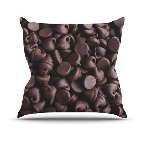 Kess Inhouse Libertad Leal Yay Chocolate Chips Candy Outdoor Throw Pillow