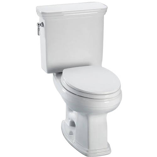 Toto CST424EFG#01 Eco Promenade Two Piece Elongated 1.28 GPF SanaGloss Toilet with E-Max Flush System, Less Seat, Cotton