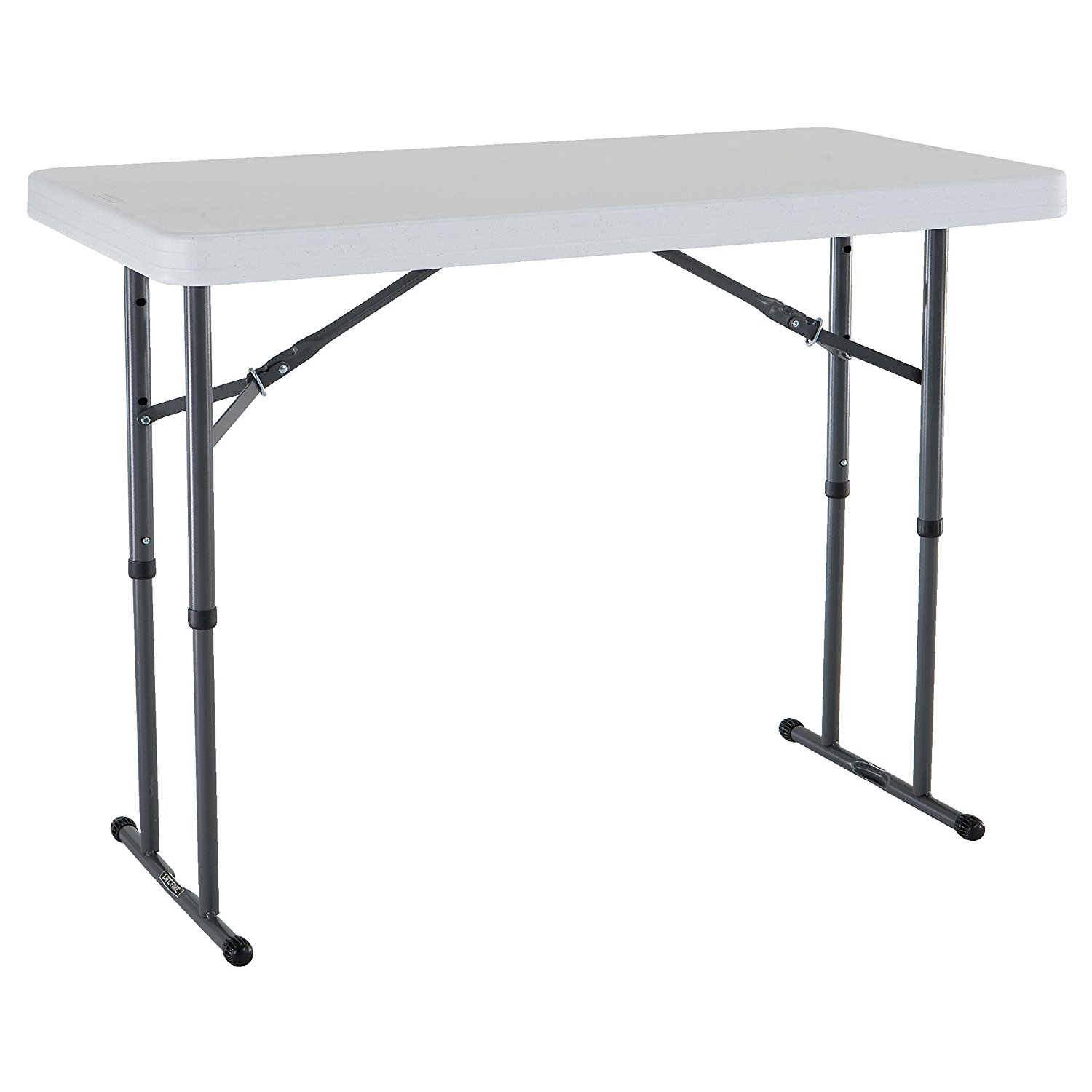 80160 Commercial Height Adjule Folding Utility Table 4 Feet White Granite Adjusts To 22 Inch Children S 29 And 36