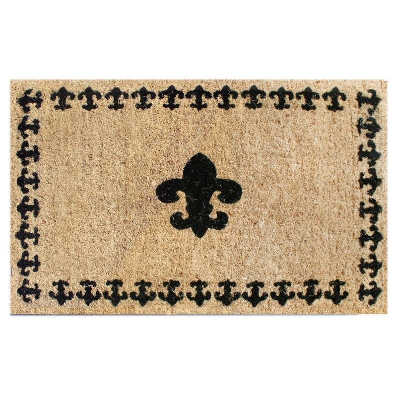 Imports Decor 698TCM Fleur di Lys Welcome Mat