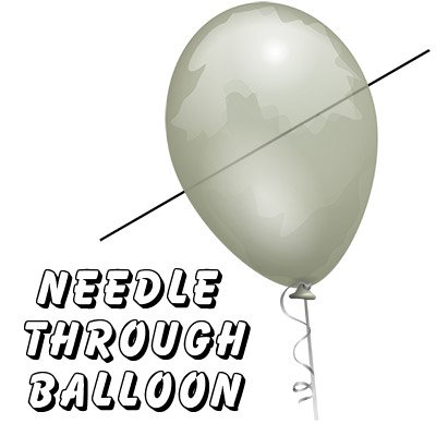 Needle Thru Balloon Professional W 10 Clear Balloons Bazar