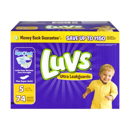 Luvs Diaper Big Pack - Size 5  (74 ct)