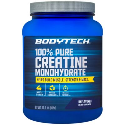 BodyTech 100 Pure Creatine Monohydrate Unflavored 5 GM/serving  Supports Muscle Strength  Mass (32 Ounce