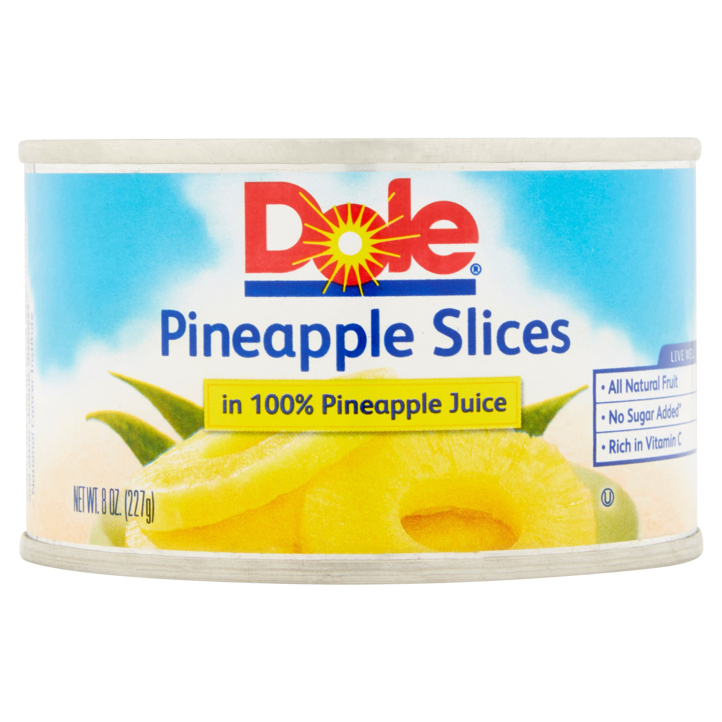 Dole Pineapple Slices in 100% Pineapple Juice, 8 oz. Can