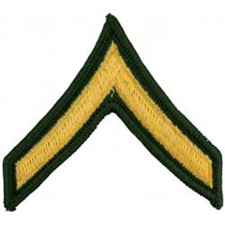 U.S. Army Pair Private Dress Green Rank Patches