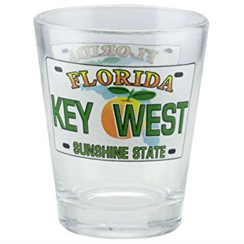 Key West Florida License Plate Shot Glass