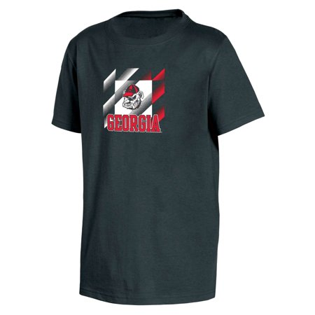 Bulldogs Youth Team Color (Youth Russell Black Georgia Bulldogs Crew Neck Team 2 T-Shirt)