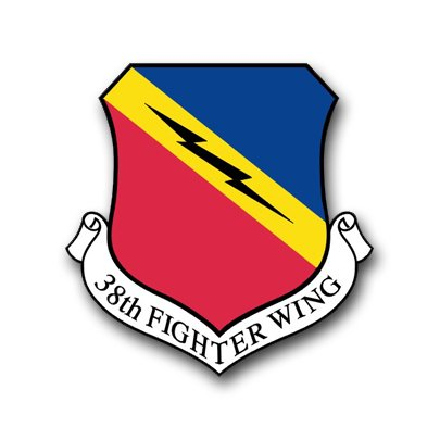 3.8 Inch Air Force 388th Fighter Wing Vinyl Transfer - Air Force Wing Decal