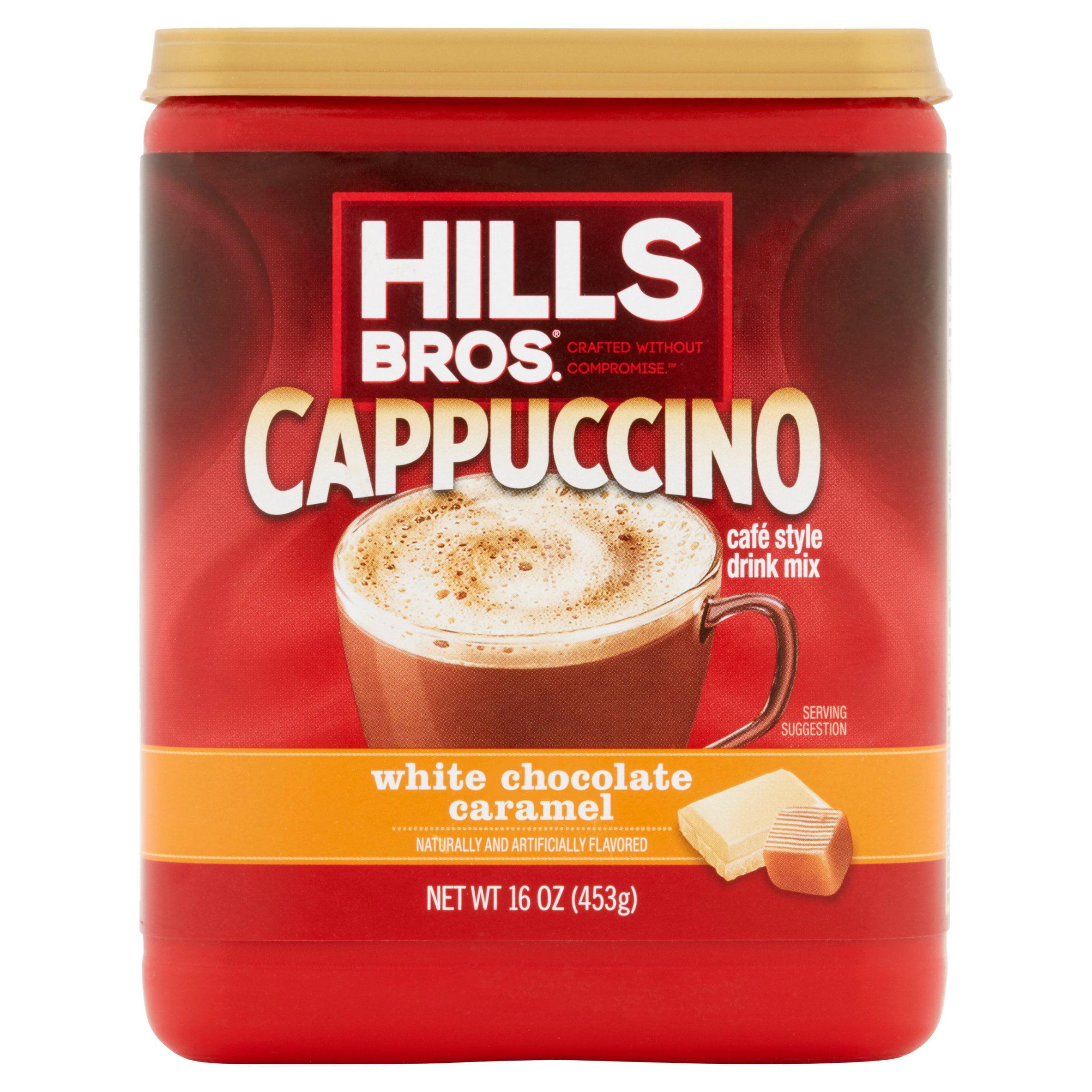 Hills Bros. White Chocolate Caramel Cappuccino Drink Mix, 16 oz ...