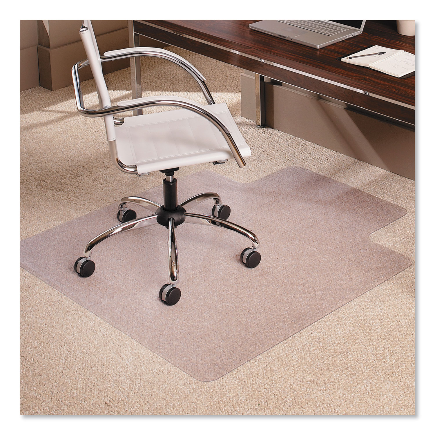 Chair Mats 46 x 60 with Lip for Carpeted Floors Premium Thickness 1//5