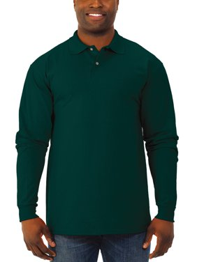 Jerzees Men's Spotshield Long Sleeve Polo Shirt